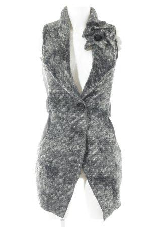 Chaleco de punto gris oscuro-gris claro moteado look casual