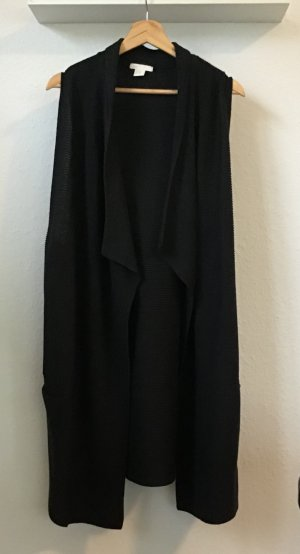 H&M Long Knitted Vest black