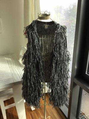 H&M Smanicato lavorato a maglia grigio