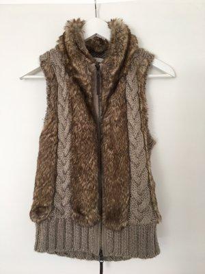 Jake*s Gilet tricoté chameau-beige