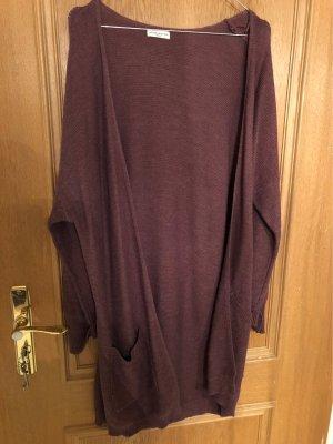 Jacqueline de Yong Gilet tricoté gris lilas