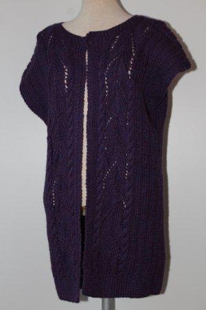 Chaleco de punto violeta amarronado