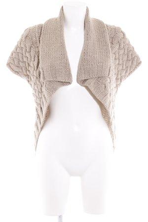 Gilet tricoté gris brun torsades Ornementation tricotée