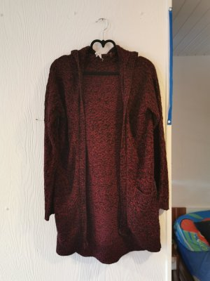 Long Knitted Vest bordeaux