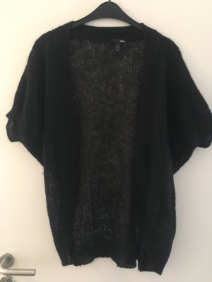 H&M Short Sleeve Knitted Jacket black