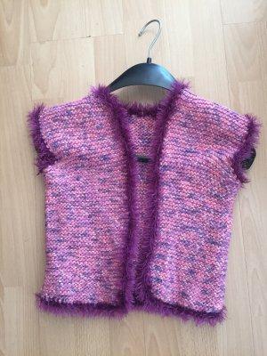 Smanicato lavorato a maglia multicolore