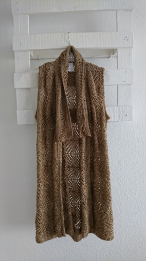 Vila Knitted Vest brown-bronze-colored