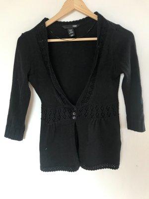 H&M Gebreid vest zwart