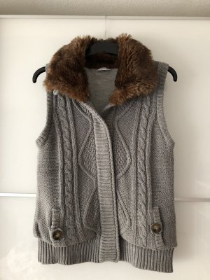 Pimkie Knitted Vest silver-colored-light grey