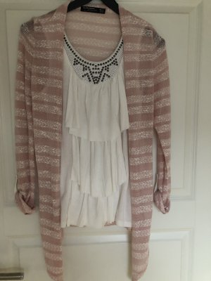 Blind Date Knitted Vest pink-white
