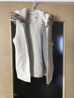 Smanicato lavorato a maglia bianco sporco