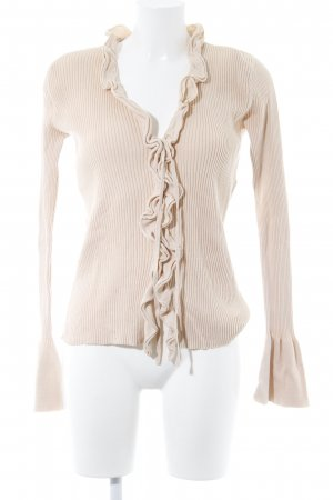 Strickweste nude Casual-Look