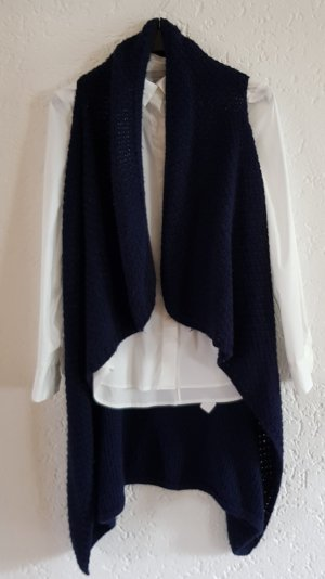 Made in Italy Long Knitted Vest dark blue
