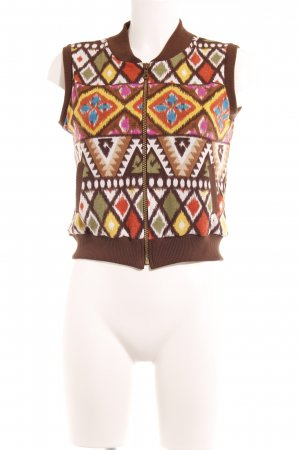 Knitted Vest psychedelic pattern '70s style