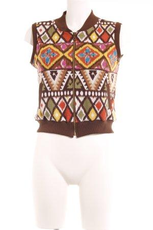 Gilet tricoté motif psychédélique style des années 70