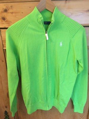 Ralph Lauren Gebreid vest neon groen