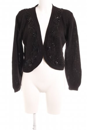 Knitted Vest black glittery