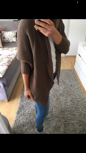 Strickweste Strickjacke Cardigan braun taupe 32/34 Laura Scott