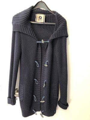 Kuyichi Veste tricotée en grosses mailles bleu foncé