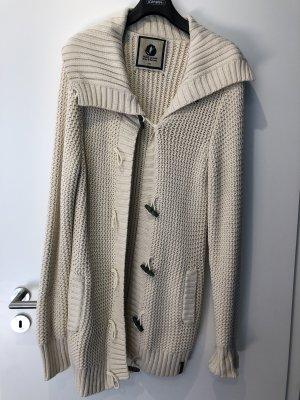 Kuyichi Veste tricotée en grosses mailles crème