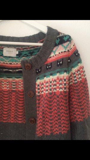 Only Smanicato lavorato a maglia multicolore Lana