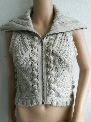 Only Gilet tricoté gris clair acrylique