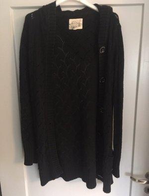 s.Oliver Gilet long tricoté noir