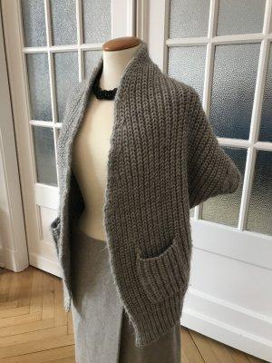 Stefanel Gilet tricoté beige clair laine alpaga