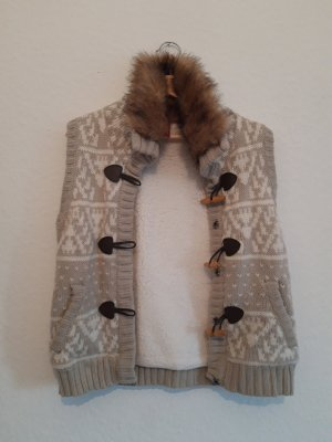 Manguun Knitted Vest cream-oatmeal