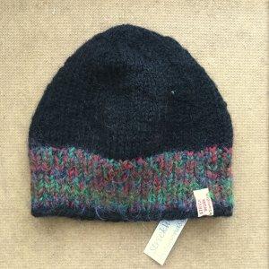 Chapeau en tricot multicolore laine