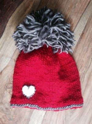 Sombrero de punto multicolor