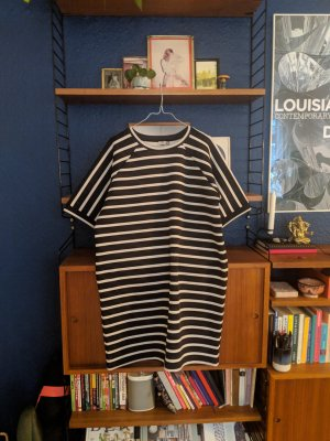 Striped black / creme dress