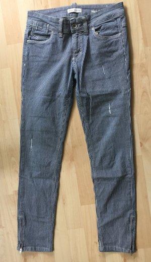 Striped Jeans, cropped, slimfit, powerstretch von Marc O'Polo, Größe 27