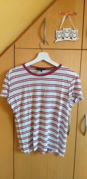 Forever 21 T-Shirt white-dark orange