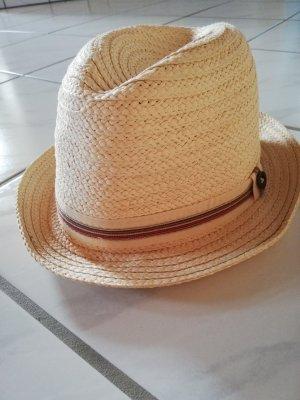 Chapeau de paille beige clair-beige