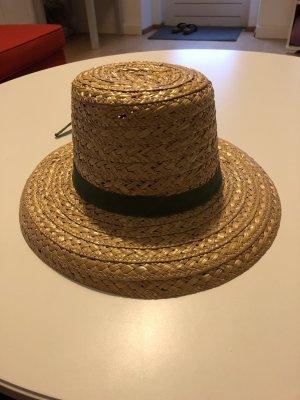 Chapeau de paille brun sable-kaki