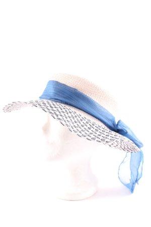 Cappello di paglia multicolore elegante