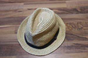 Straw Hat black brown-sand brown