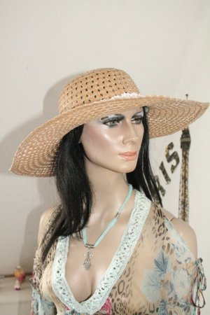 Straw Hat beige-white
