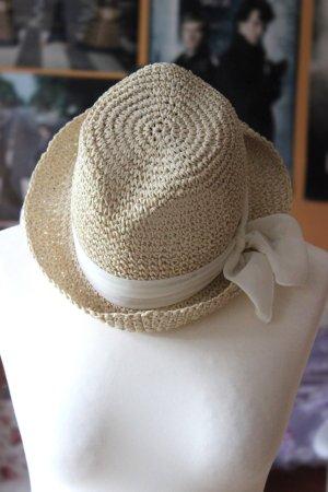 Strohhut mit weißer Schleife von H&M M/L
