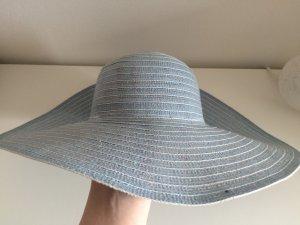 Strohhut Sommer Hut blau neu