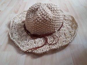 Cappello parasole beige chiaro