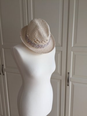 H&M Straw Hat natural white-purple