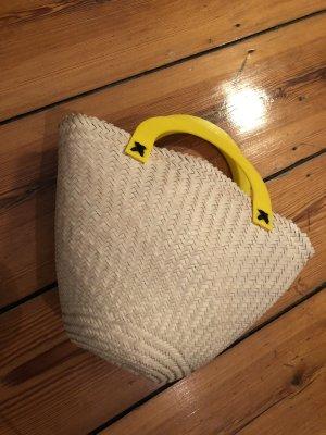 Bolso barrel amarillo-beige claro