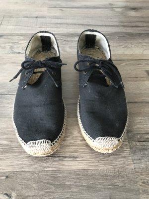 Lace Shoes dark grey cotton
