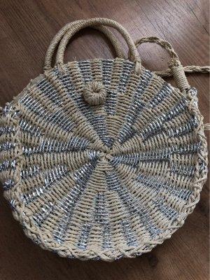 Basket Bag cream-silver-colored