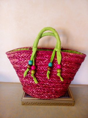 Basket Bag multicolored cotton