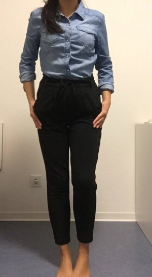Strukturierte Hose mit Gummibund