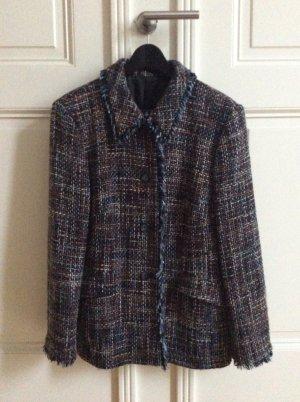 Peek & Cloppenburg Tweed blazer veelkleurig Gemengd weefsel