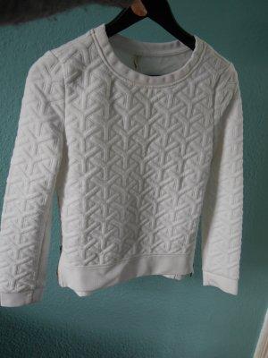 Strukuriertes Sweatshirt mit Reißversluss an den Seiten